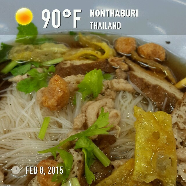 #Vegetarian noodles #weather #wx #roadtrip2015 nonthaburi #thailand