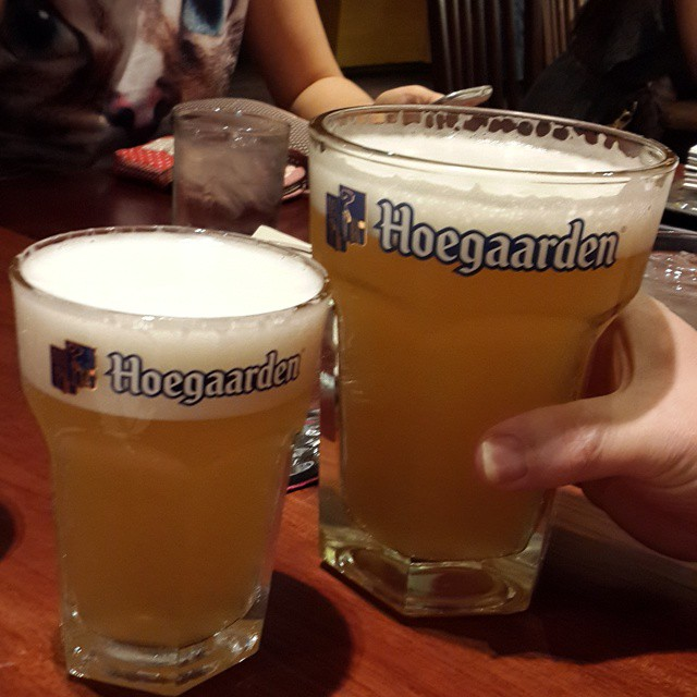 Went for the #Hoegaarden