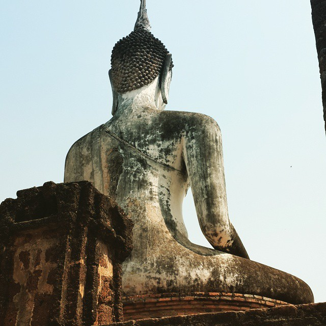 Buddha monument #Sukhothai #roadtrip2015