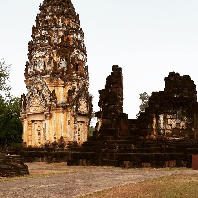 Wat Phrapai temple in ruin #Sukhothai