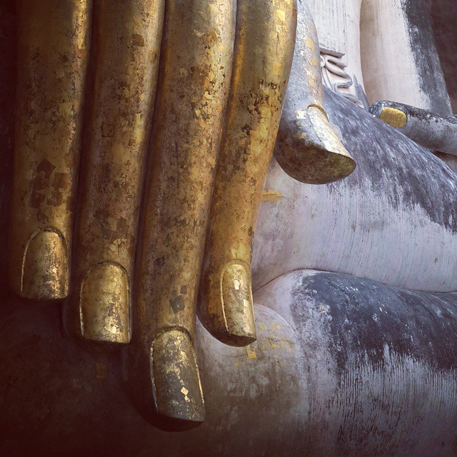 The right hand of #Buddha #Sukhothai #roadtrip2015