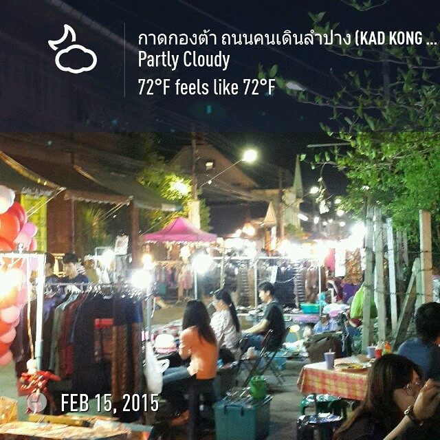 Night market in #Lampang #wx #roadtrip2015