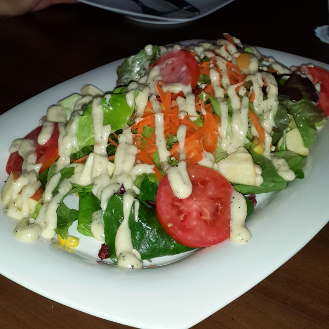 Free salad for our table, complements of the nice folks at Casa de Tapas!  #chiangrai