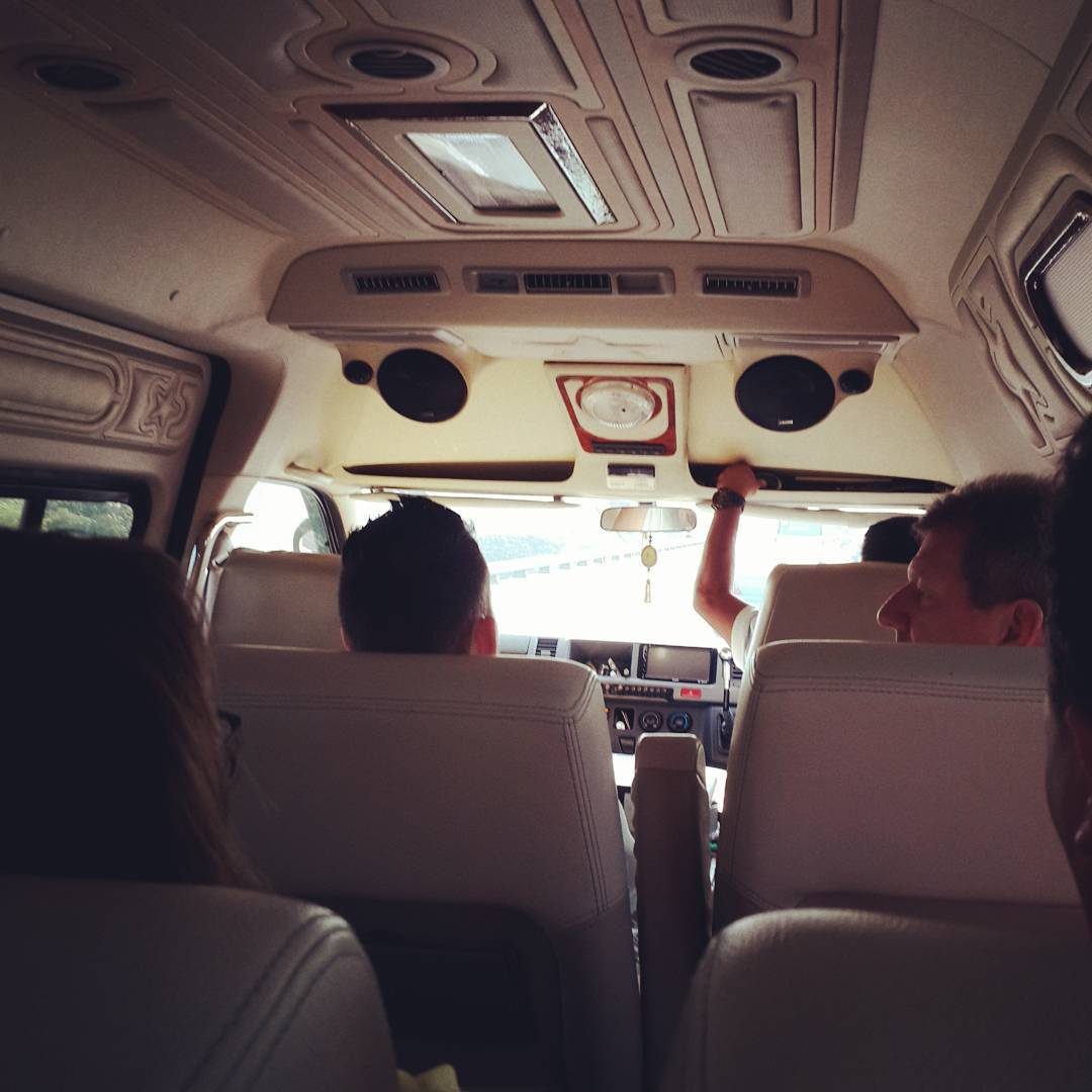 Private mini-bus: a fun way to #travel and see all the sights in comfort #roadtrip
