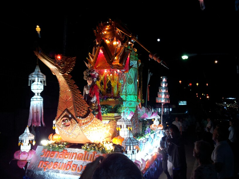 Night parade in Chiang Rai