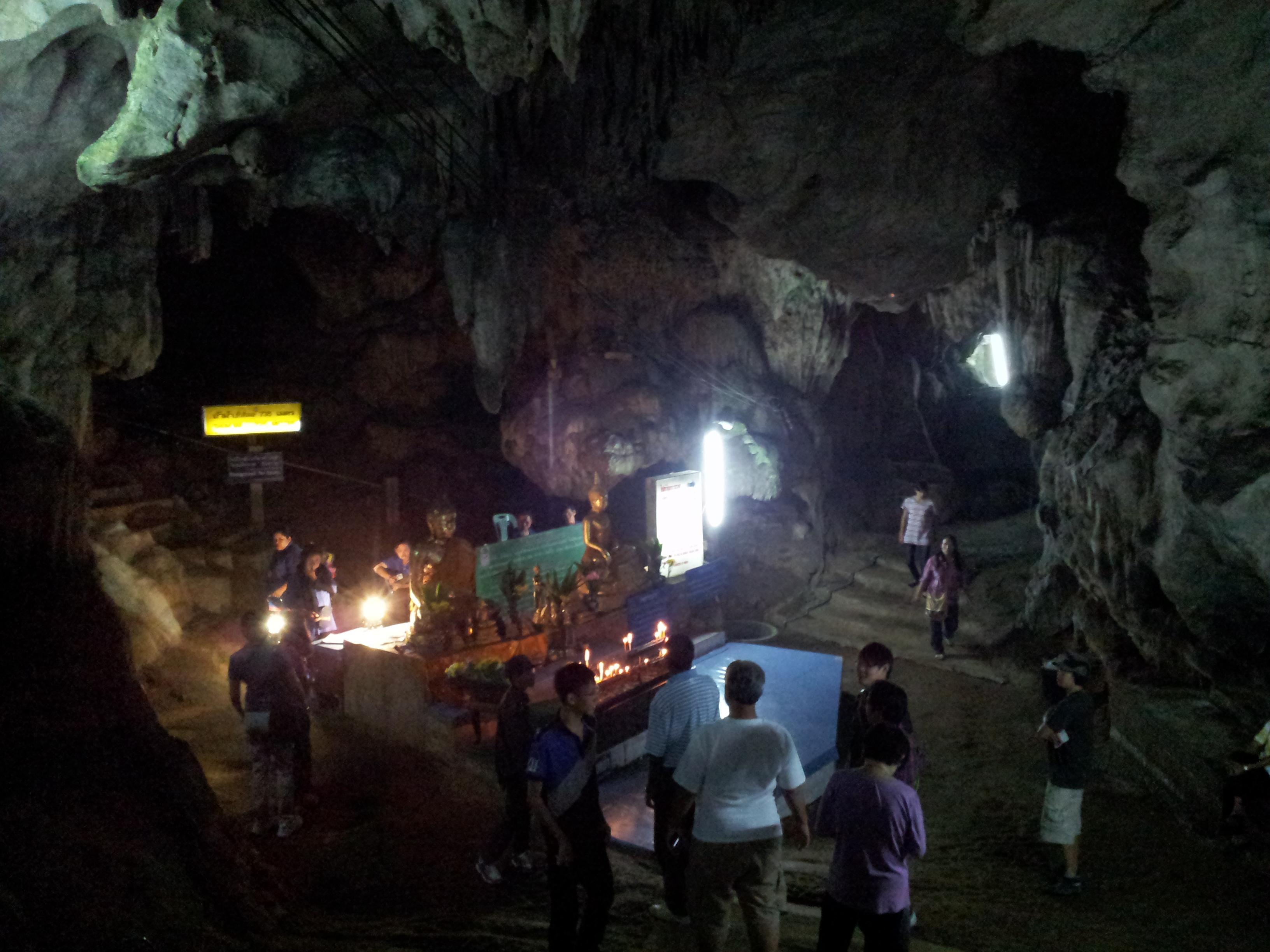 Inside caves at Wat Tham Chiang Dao