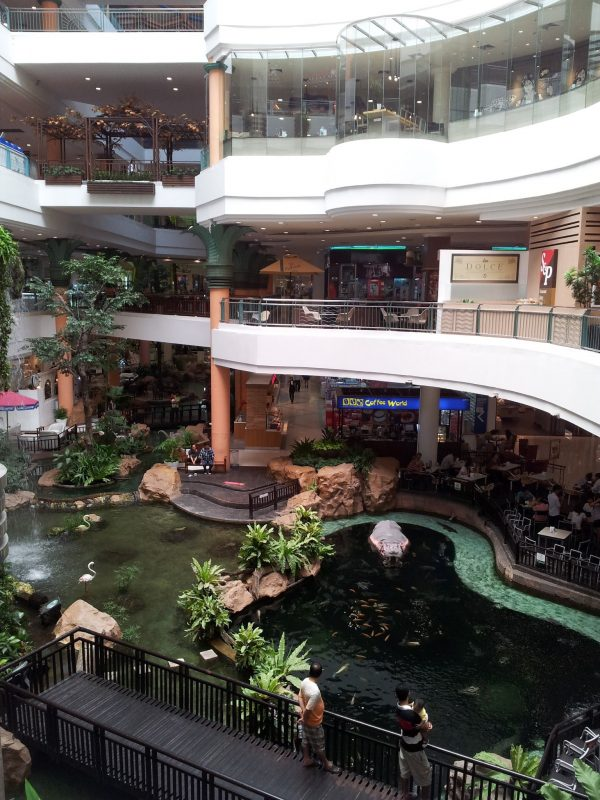 One of the smaller malls