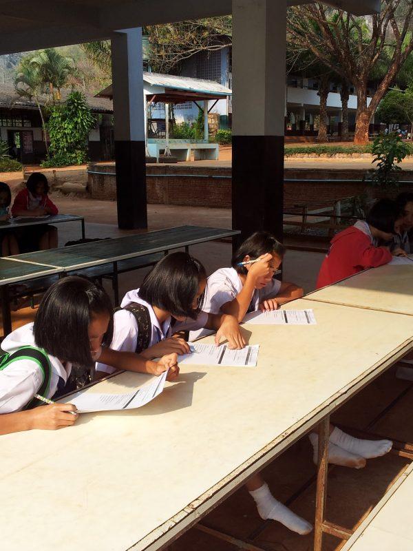 Back at Mueng Na school