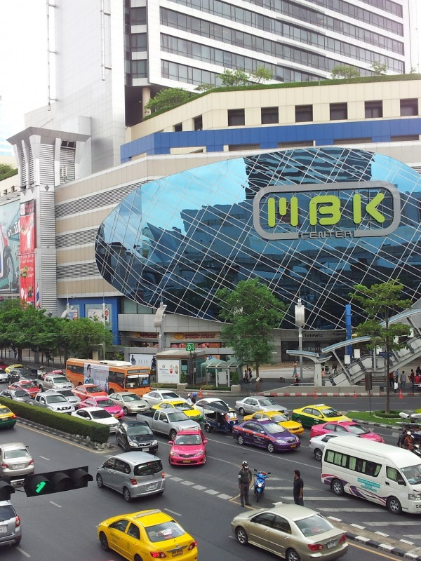 Downtown shopping district