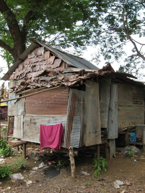 Refugee shanty village in Mae Sot