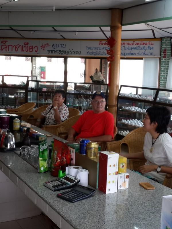 Tea tasting at Mae Salong